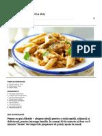 Penne Cu Pui Alfredo - Retete Culinare