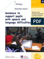Leaflet Speech and Language Difficulties