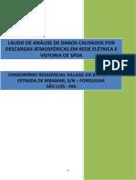LAUDO DE ANÁLISE DE DANOS CAUSADOS POR DESCARGAS ATMOSFÉRICAS EM REDE ELÉTRICA E VISTORIA DE SPDA.pdf