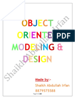 Object oriented modeling and design(Subject code