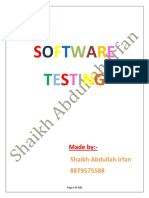 Software testing(subject code:17624)~Made by