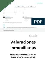 Valoraciones Inmobiliarias. Método Comparación de Mercado. Ivan Humaran Nahed