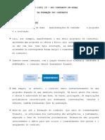 Direito Civil IV - DA FORMAÇÃO DOS CONTRATOS