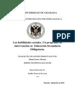 Habilidades Sociales Tesis de Master de Intervencion.