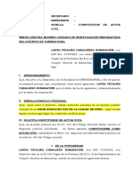 Solicitud de Constitucion Actor Civil