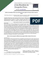 Revista Brasileira de Geografia Física - Artigo - Climatologia