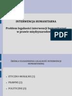 Interwencja Humanitarna, Program Legalnosci Interwencji Humanitarnej w Prawie Międzynarodowym