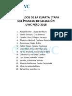 Resultados de la Cuarta Etapa UWC Perú