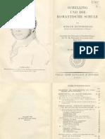 Hinrich Knittermeyer-Schelling Und Die Romantische Schule-Ernst Reinhard (1929)