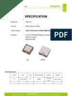 SWLP.2450.12.4.B.02 SMD 2.4 GHz Patch Antenna 140110
