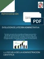 Equipo 1. Evolución de La Teoría Administrativa