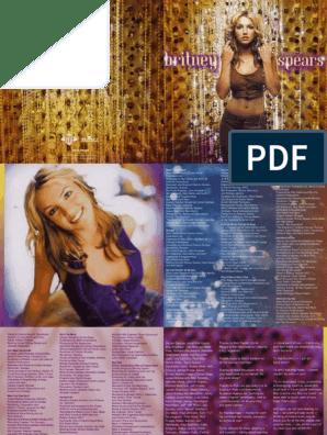 Britney Spears Oops I Did It Again Digital Booklet