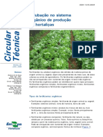 Adubação No Sistema Orgânico de Produção de Hortaliças- Ct65