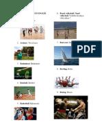 Lista de Deportes en Inglés