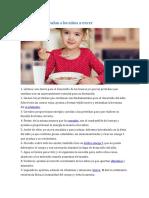 Alimentos Que Ayudan a Los Niños a Crecer