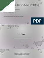 Escalas de Medición y Variables Estadísticas
