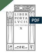 Crowley - Liber Porta Lucis sub figurâ X