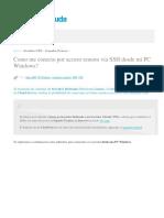Como Me Conecto Por Acceso Remoto via SSH Desde Mi PC Windows