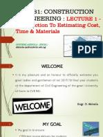CVE581 Lecture 1 - Introduction to Estimation_2