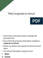 Plant Responds to Stimuli