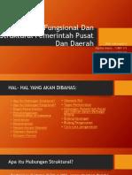 Hubungan Fungsional Dan Struktural Pemerintah Pusat Dan Daerah 2