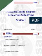 Ses1 Latinoamerica, Despues de La Crisis Sub Prime