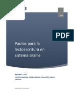 Instructivo Básico Para El Aprendizaje Del Sistema Braille
