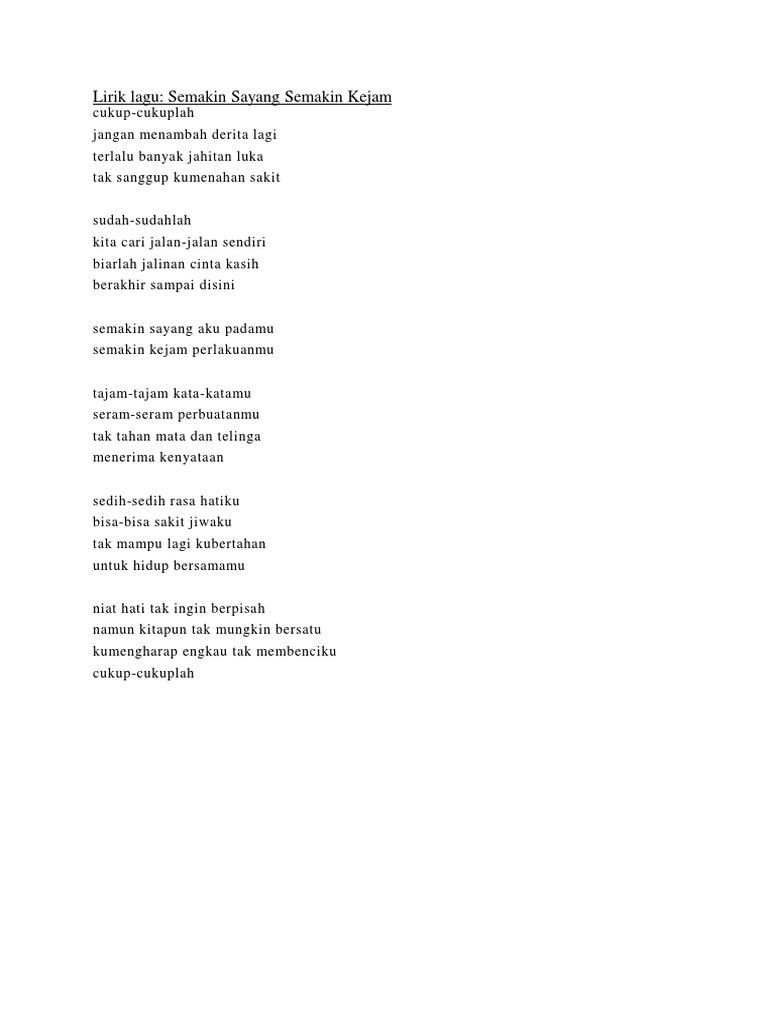 Lirik Lagu Dangdut