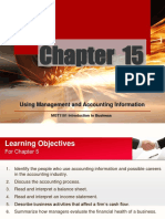 Chapter 15 Using Management and Accounting Information