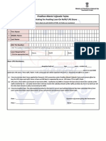 Ujjwala Application Form English