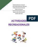 Educacion Fisica; Actividades Recreacionales