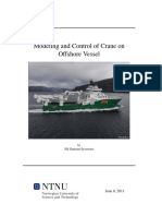 Modeling and Control of Crane on Offshore Vessel