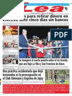 Periódico Lea Jueves 08 de Febrero Del 2018
