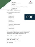 Lista Exercício de Quimica Analitica Qualitativa