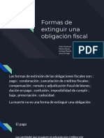 Formas de Extinguir Una Obligación Fiscal