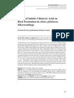 Effect of Indole-3-Butyric Acid On
