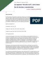 """GC_26_04!8!2015 El Embargo Como Supuesto """"Derecho Real"""" y Otros Temas (Gonzales Barrón)"""
