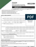Cxc Application Form Private CSEC JAN