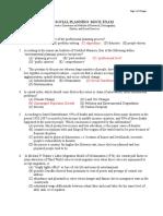 Social Planning Mock Exam
