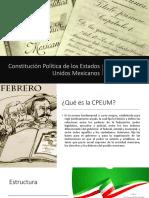 Tarea 1. Constitución Política de Los Estados Unidos Mexicanos
