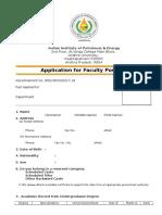 Appln Format Fac Recruitment