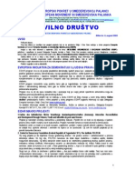 """Bilten """"Civilno društvo"""" UG """"Evropski pokret u Smederevskoj Palanci"""", br. 5, avgust 2003"""