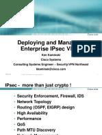 CCIP Deploying and Managing Enterprise IPsec VPNs