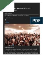 CCB – Uma Seita Pentecostal - CACP