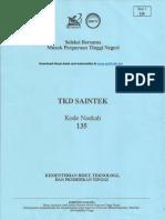 Sbmptn Saintek 2017 Kode 135