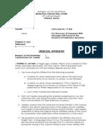 Judicial Affidavit Lacaba