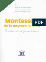 Maria Montessori de La Nastere La 3 Ani - Charlotte Poussin