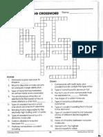 Chemical Bonding Crossword Puzzle