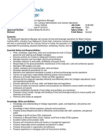 Restaurant Operation Manager PDF Template Free Download