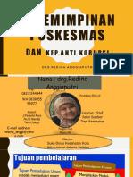 Update Kepemimpinan Puskesmas Versi Pra Tot Anggi 17 Oktober 2017